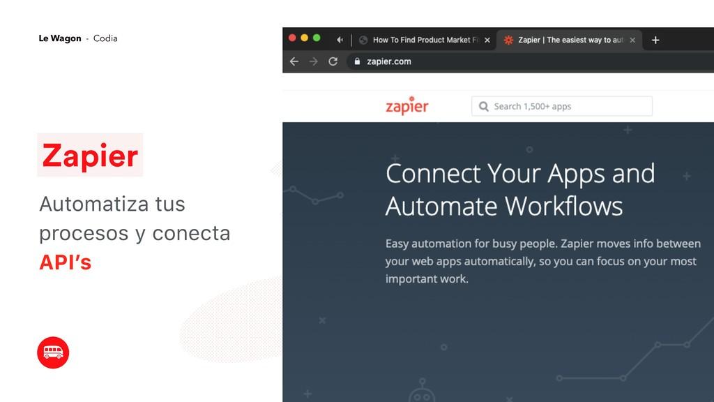 Zapier Automatiza tus procesos y conecta API's ...