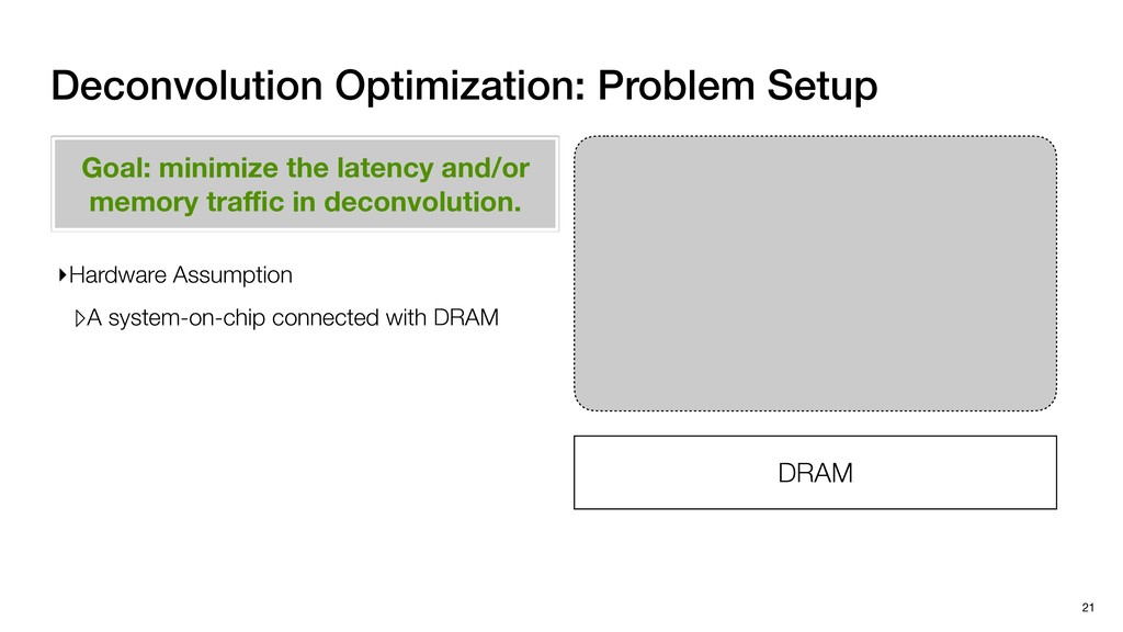 DRAM Deconvolution Optimization: Problem Setup ...