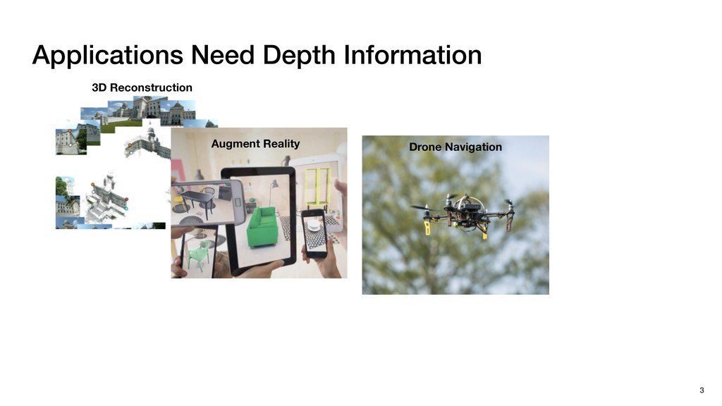 Applications Need Depth Information 3 3D Recons...