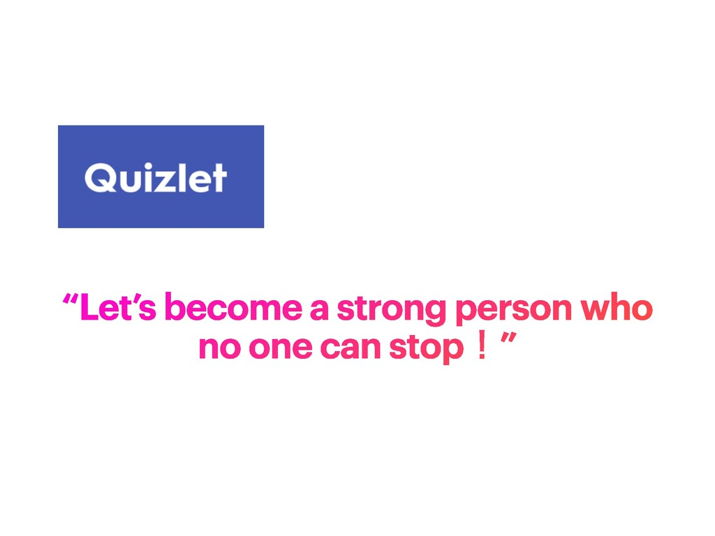 """""""Let's become a strong person who no one can st..."""