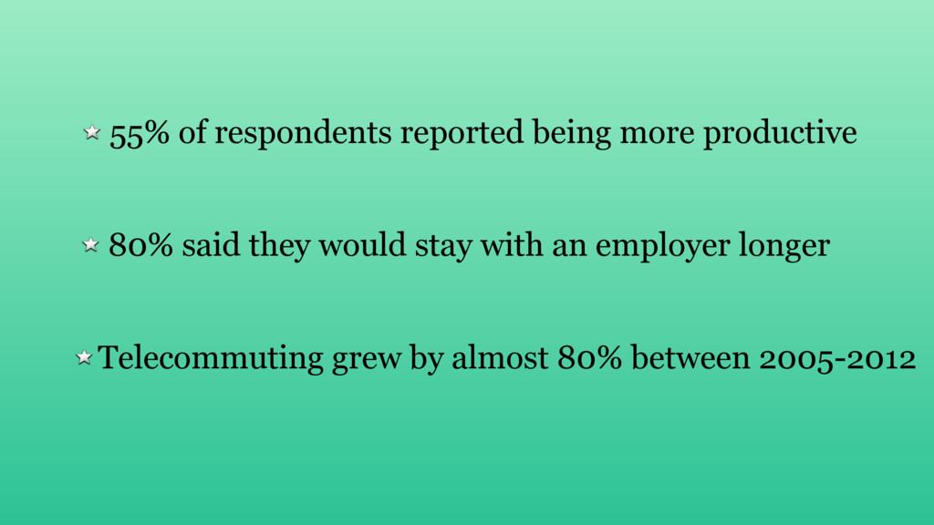 Telecommuting grew by almost 80% between 2005-2...