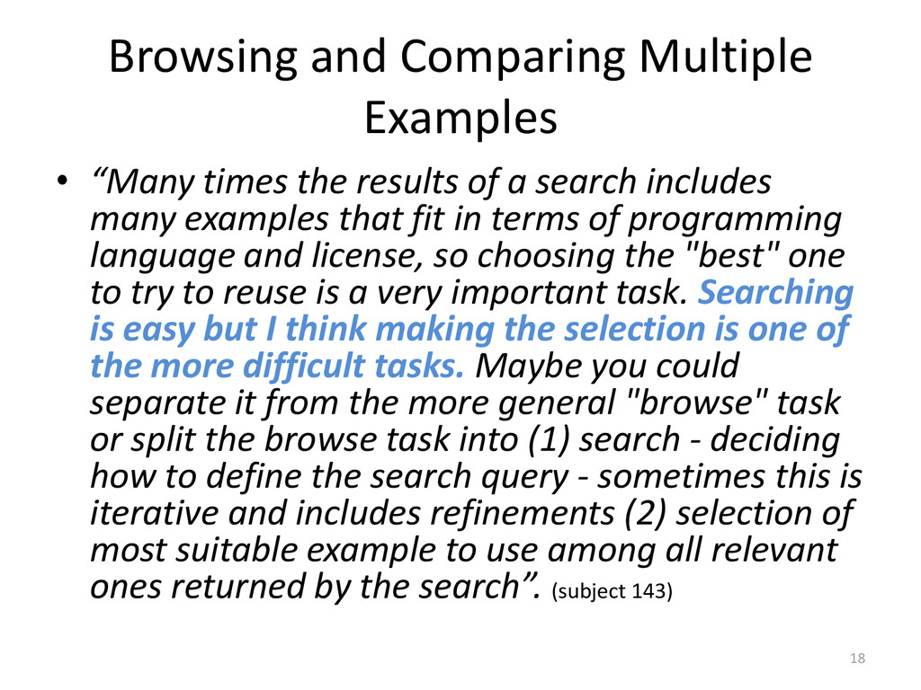 "Browsing and Comparing Multiple Examples • ""Man..."