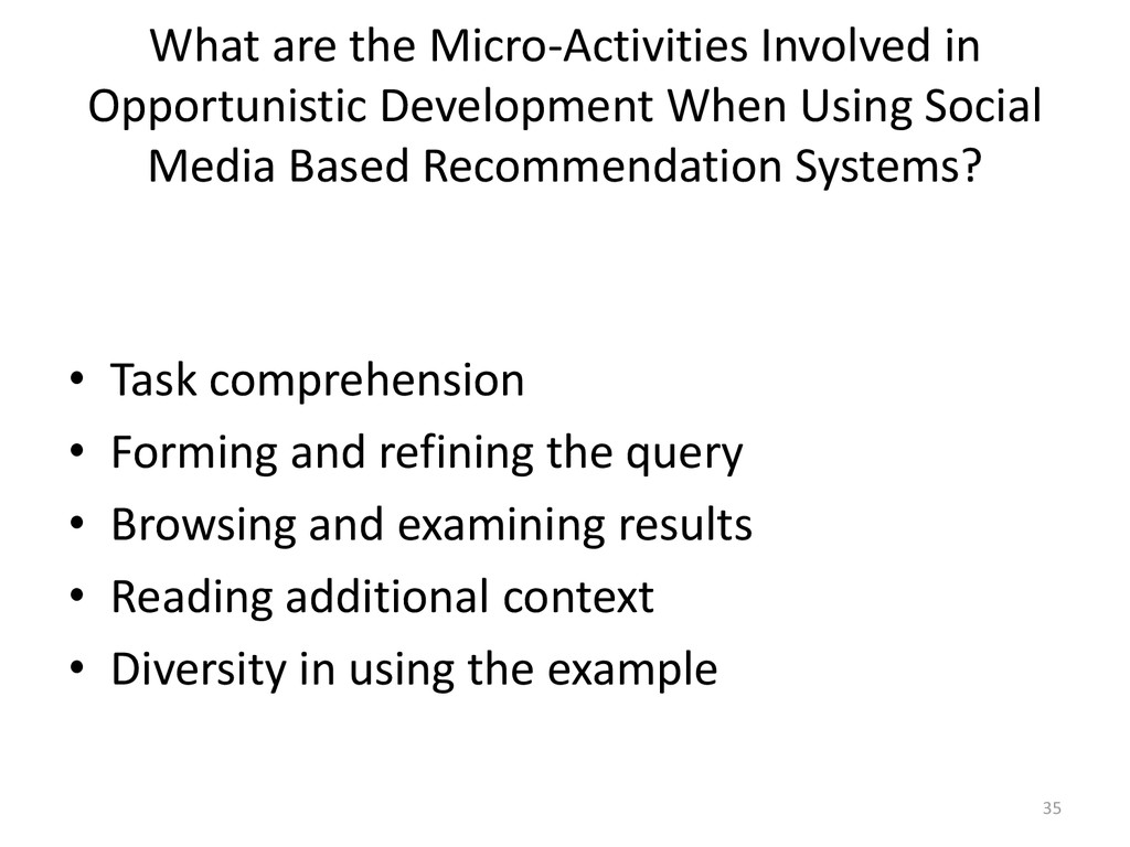 What are the Micro-Activities Involved in Oppor...