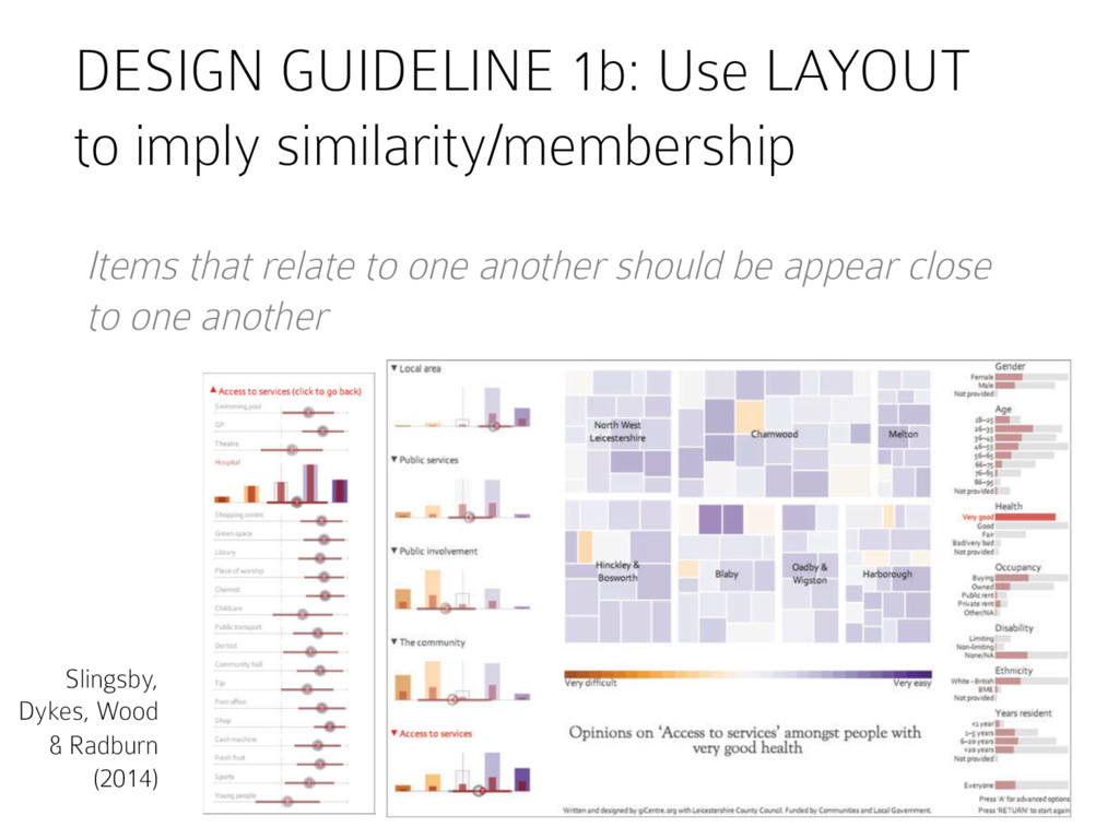 DESIGN GUIDELINE 1b: Use LAYOUT to imply simila...