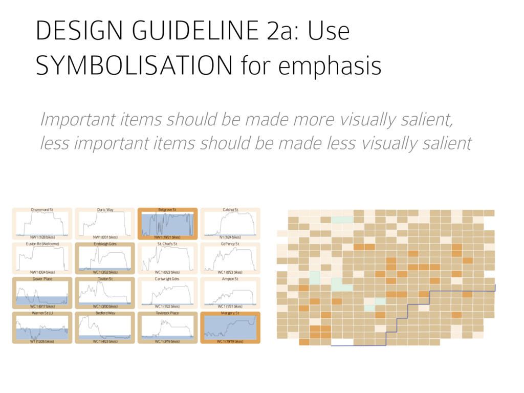 DESIGN GUIDELINE 2a: Use SYMBOLISATION for emph...