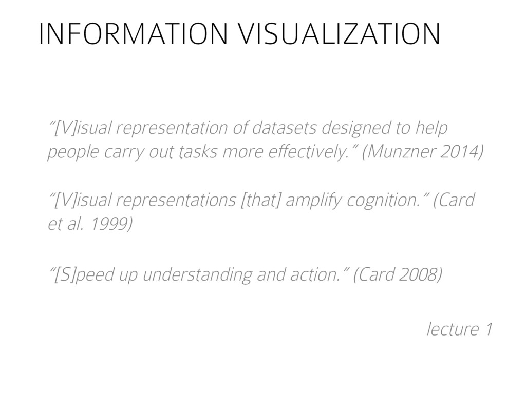 "INFORMATION VISUALIZATION ""[V]isual representat..."