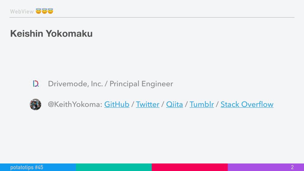 WebView  Keishin Yokomaku 2 potatotips #45 Driv...