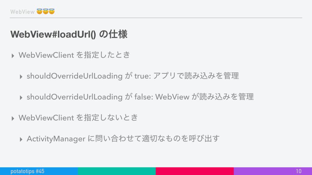 WebView  WebView#loadUrl() ͷ༷ ▸ WebViewClient ...