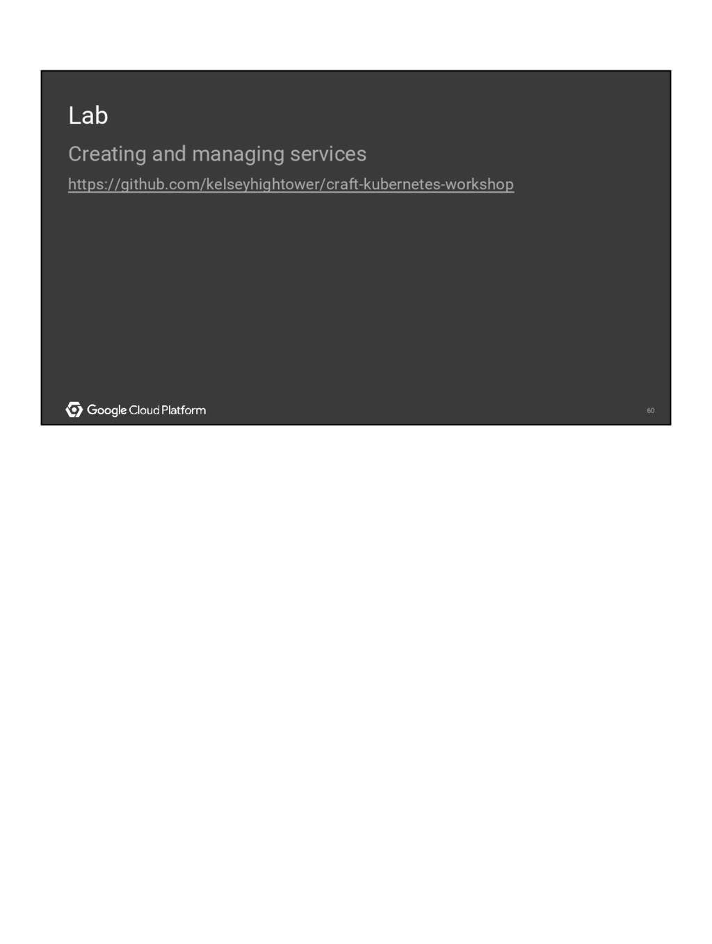 60 60 Lab Creating and managing services https:...