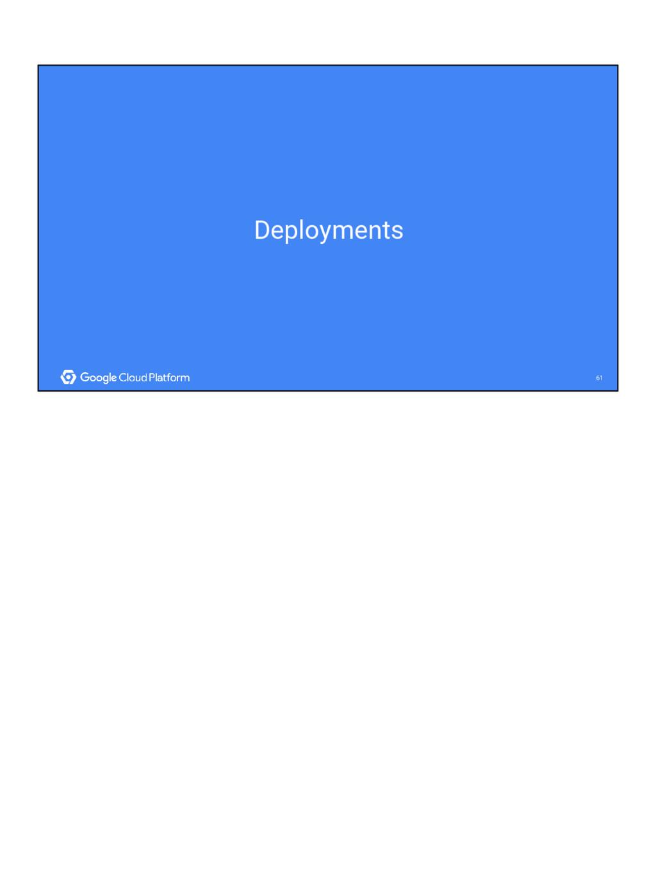 61 61 Deployments