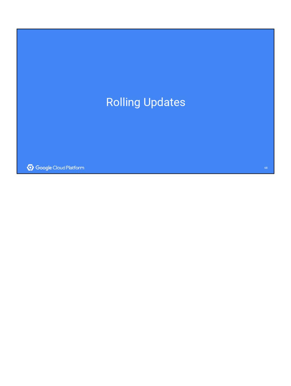 68 68 Rolling Updates