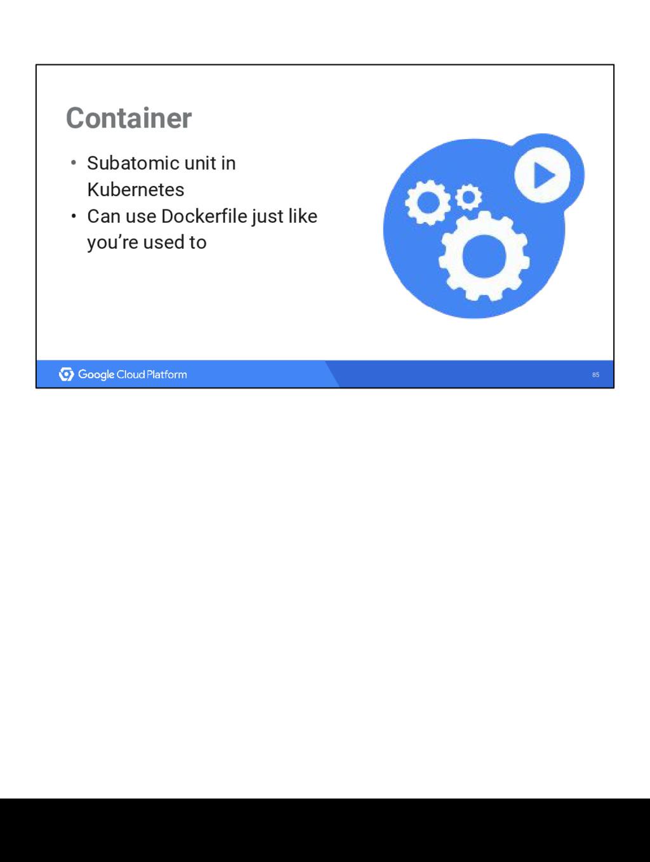 85 Container • Subatomic unit in Kubernetes • C...
