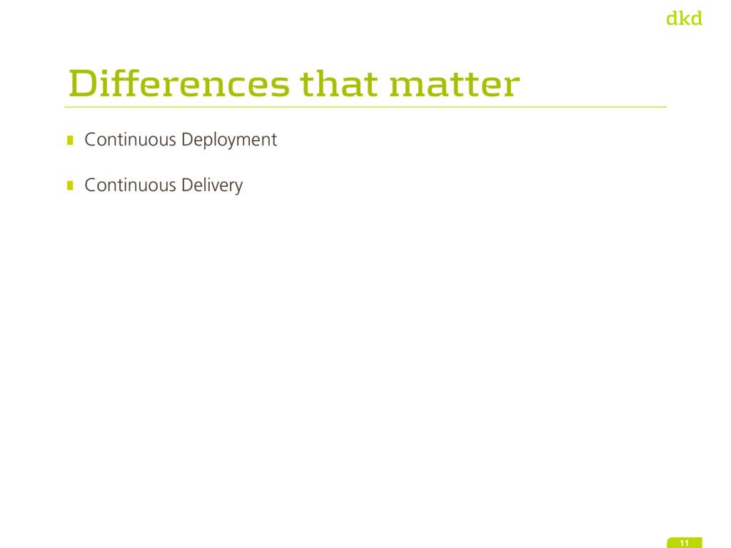 Continuous Deployment Continuous Delivery 11 D...