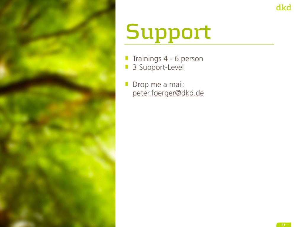 Support Trainings 4 - 6 person 3 Support-Level ...