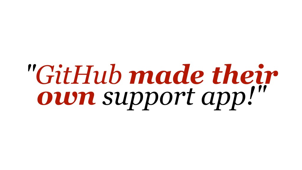 """""""GitHub made their own support app!"""""""