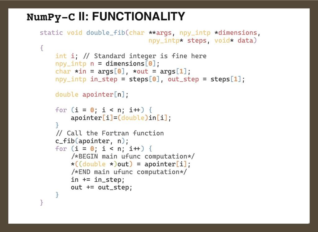 NumPy-C II: FUNCTIONALITY static void double_fi...