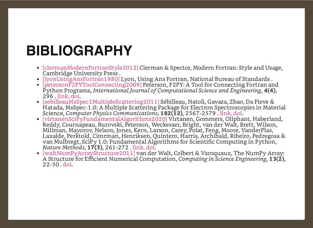 BIBLIOGRAPHY Clerman & Spector, Modern Fortran:...