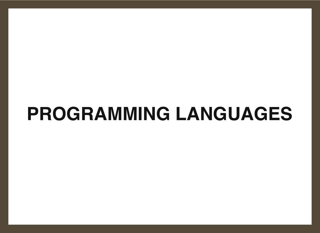 PROGRAMMING LANGUAGES 7