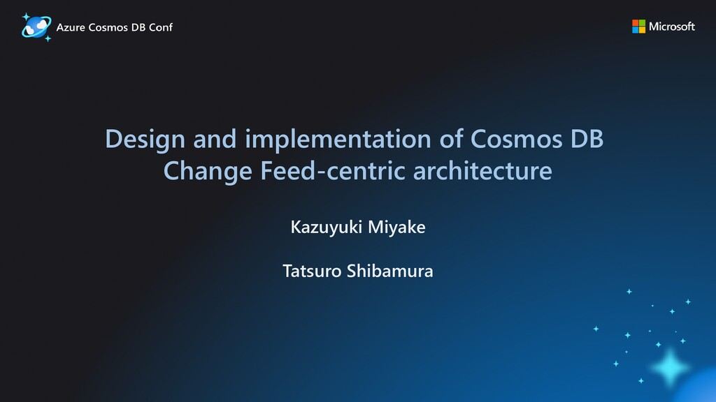 Design and implementation of Cosmos DB Change F...