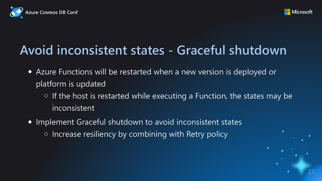 Avoid inconsistent states - Graceful shutdown A...