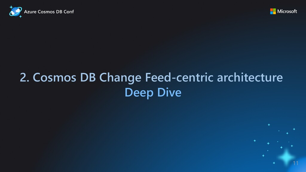 2. Cosmos DB Change Feed-centric architecture D...