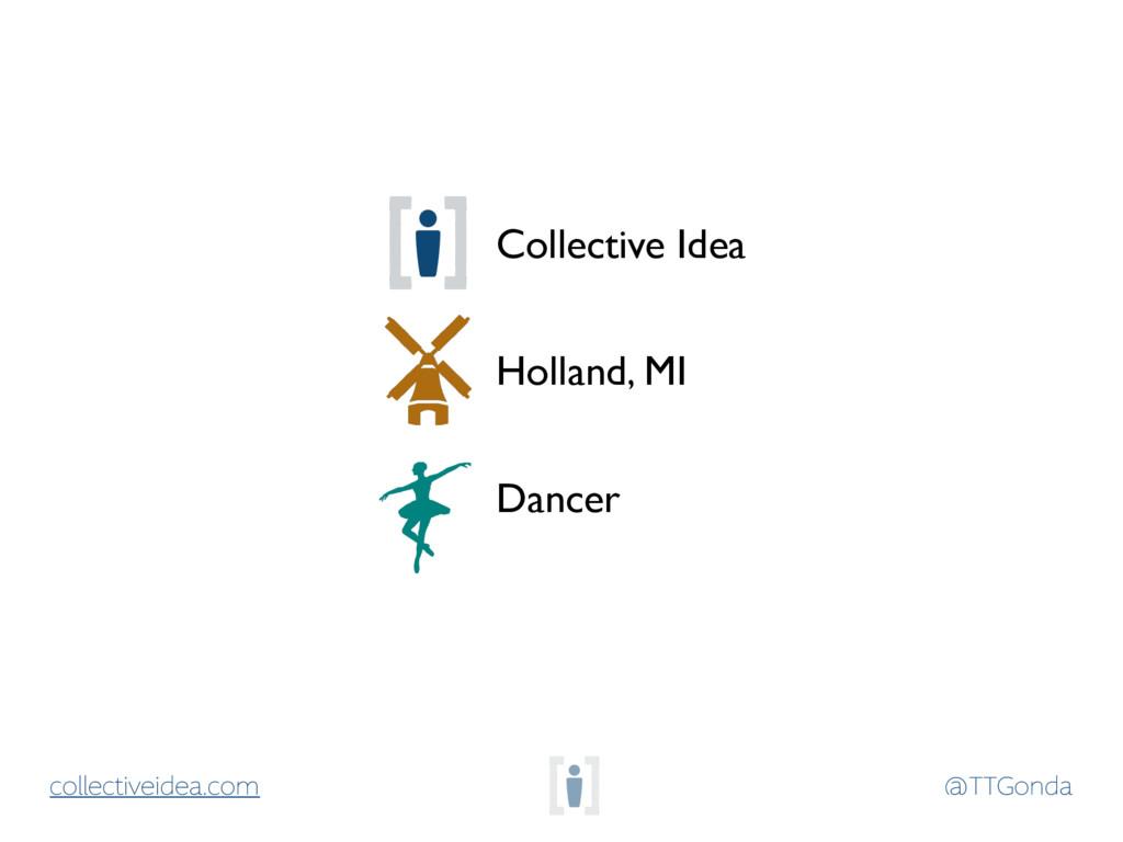 @TTGonda collectiveidea.com Holland, MI Dancer ...