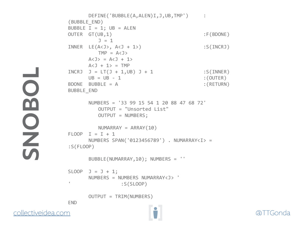 @TTGonda collectiveidea.com DEFINE('BUBBLE(A,AL...
