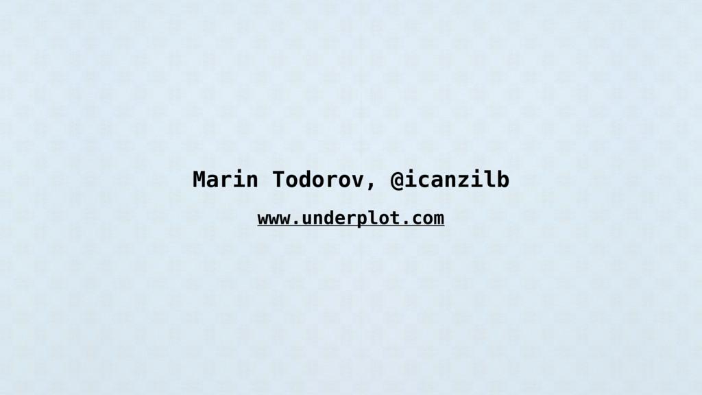 Marin Todorov, @icanzilb www.underplot.com
