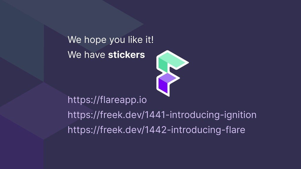 We hope you like it! We have stickers https://f...