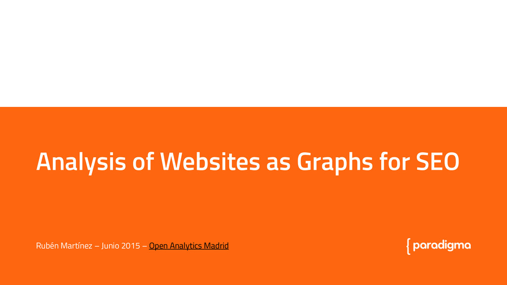 Analysis of Websites as Graphs for SEO Analysis...