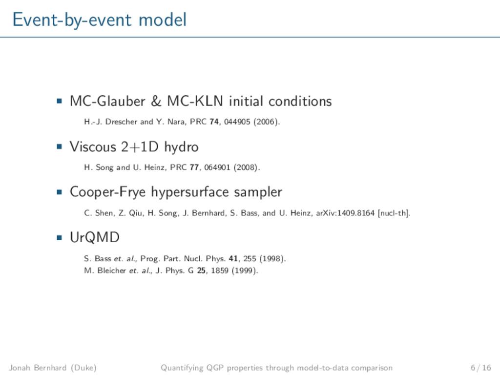 Event-by-event model MC-Glauber & MC-KLN initia...