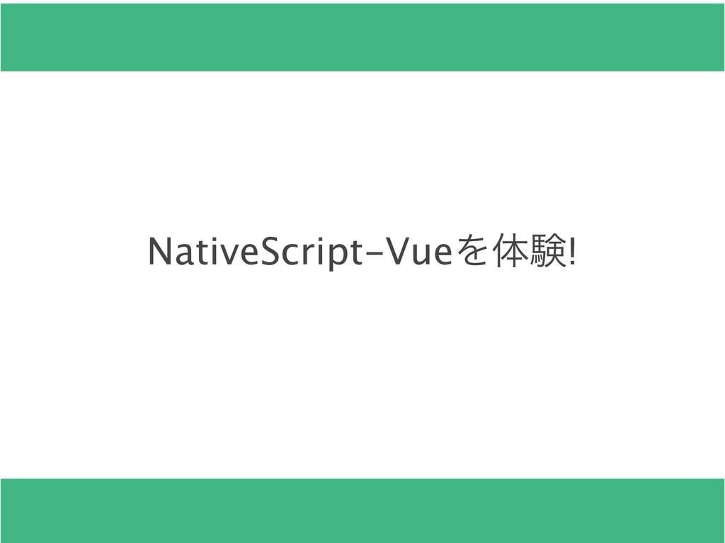 NativeScript-VueΛମݧ!