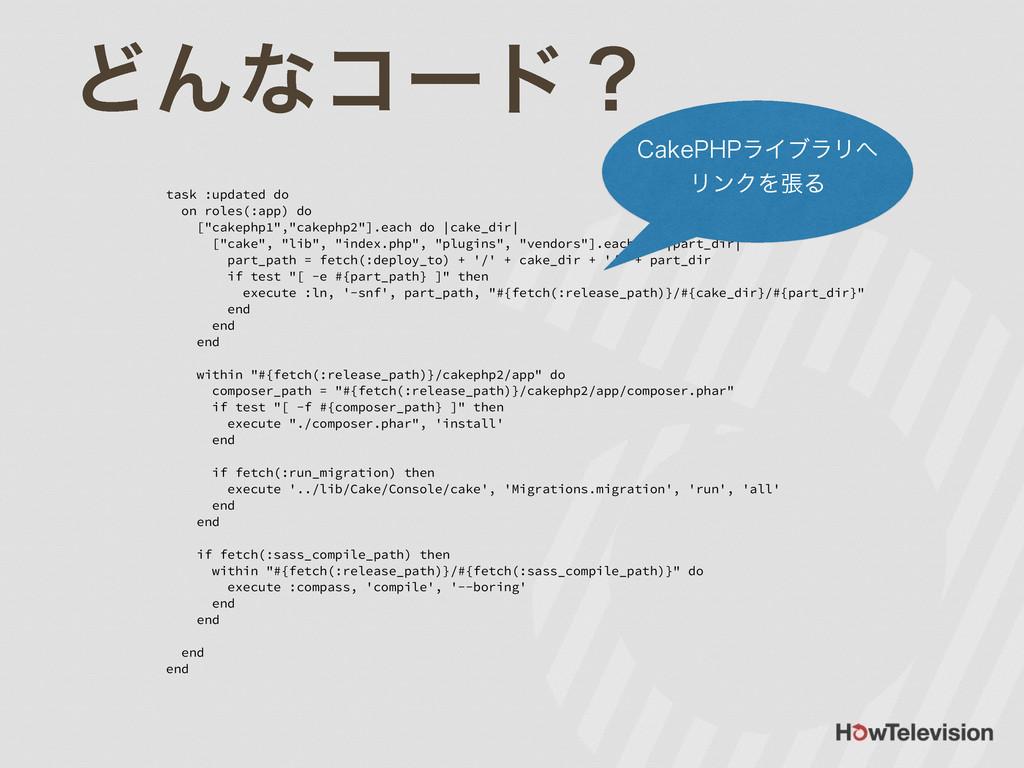 """ͲΜͳίʔυʁ task :updated do on roles(:app) do [""""ca..."""