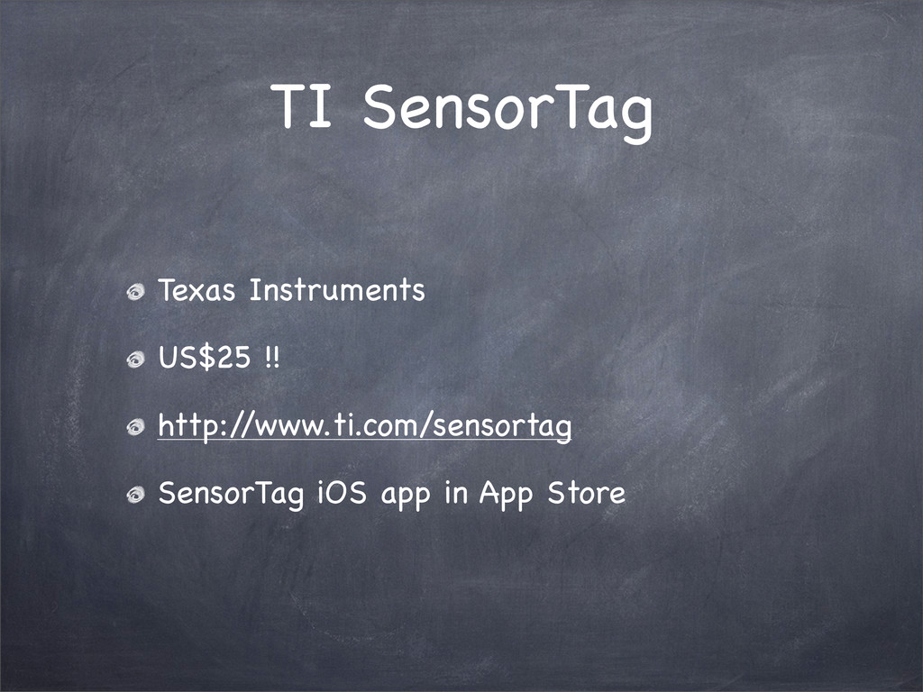 TI SensorTag Texas Instruments US$25 !! http:/ ...