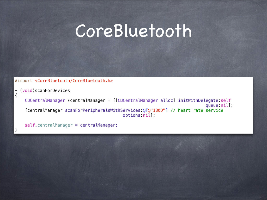 CoreBluetooth #import <CoreBluetooth/CoreBlueto...