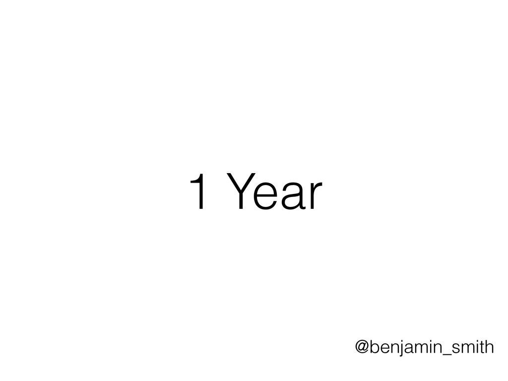 1 Year @benjamin_smith