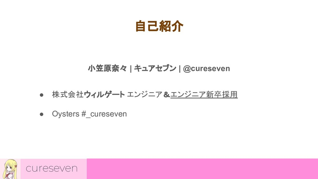 cureseven 自己紹介 小笠原奈々 | キュアセブン | @cureseven ● 株式...