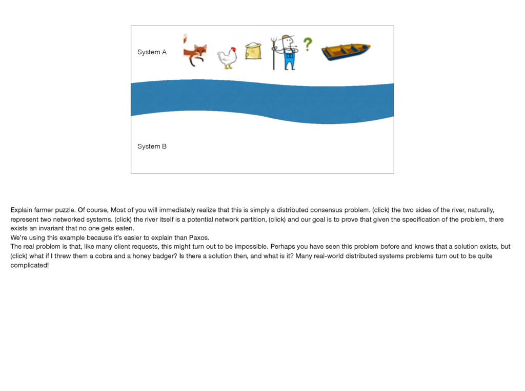 System A System B Explain farmer puzzle. Of cou...