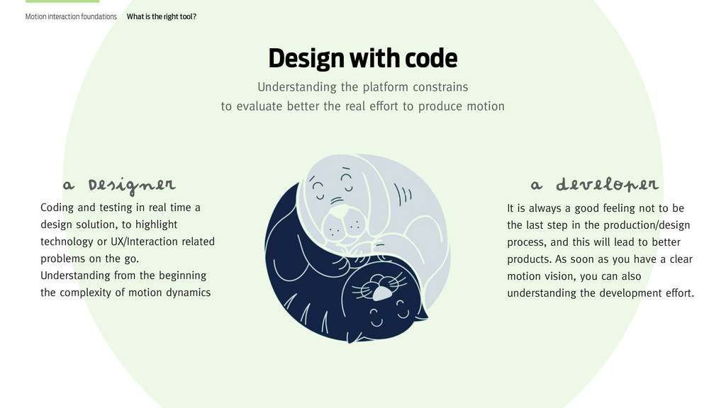 Coding and testing in real time a design soluti...