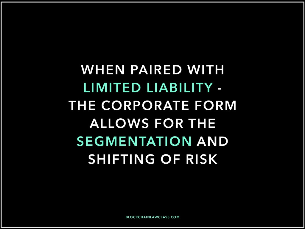 WHEN PAIRED WITH LIMITED LIABILITY - THE CORPOR...