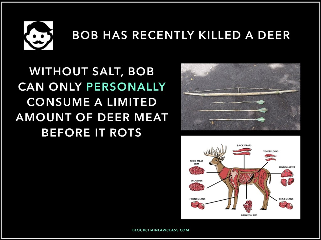 BOB HAS RECENTLY KILLED A DEER WITHOUT SALT, BO...