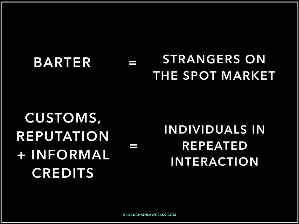 BARTER INDIVIDUALS IN REPEATED INTERACTION STRA...