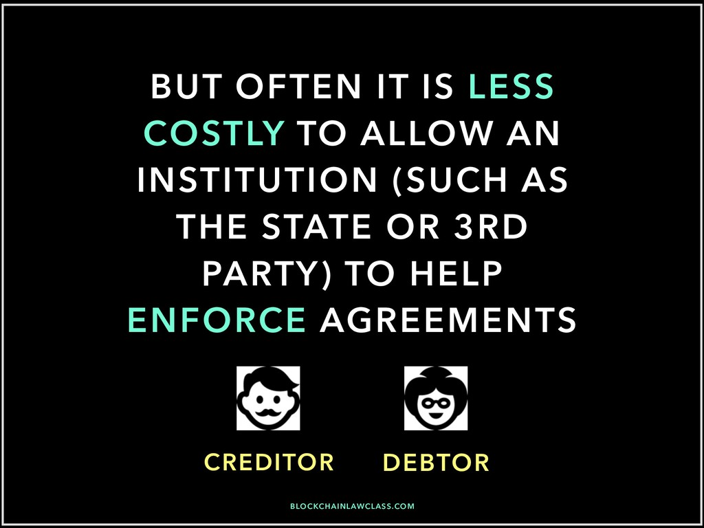 BUT OFTEN IT IS LESS COSTLY TO ALLOW AN INSTITU...