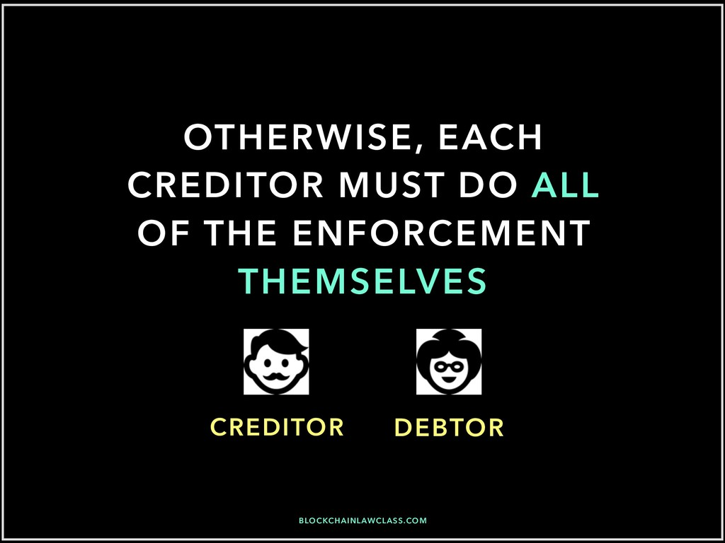 OTHERWISE, EACH CREDITOR MUST DO ALL OF THE ENF...