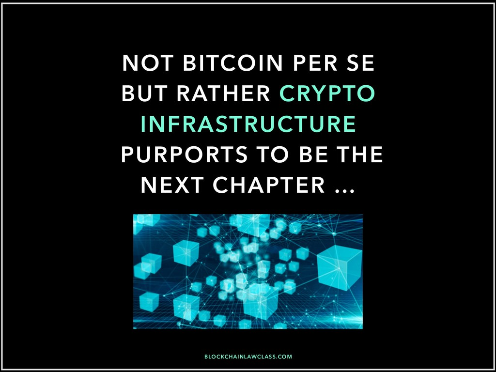 NOT BITCOIN PER SE BUT RATHER CRYPTO INFRASTRUC...