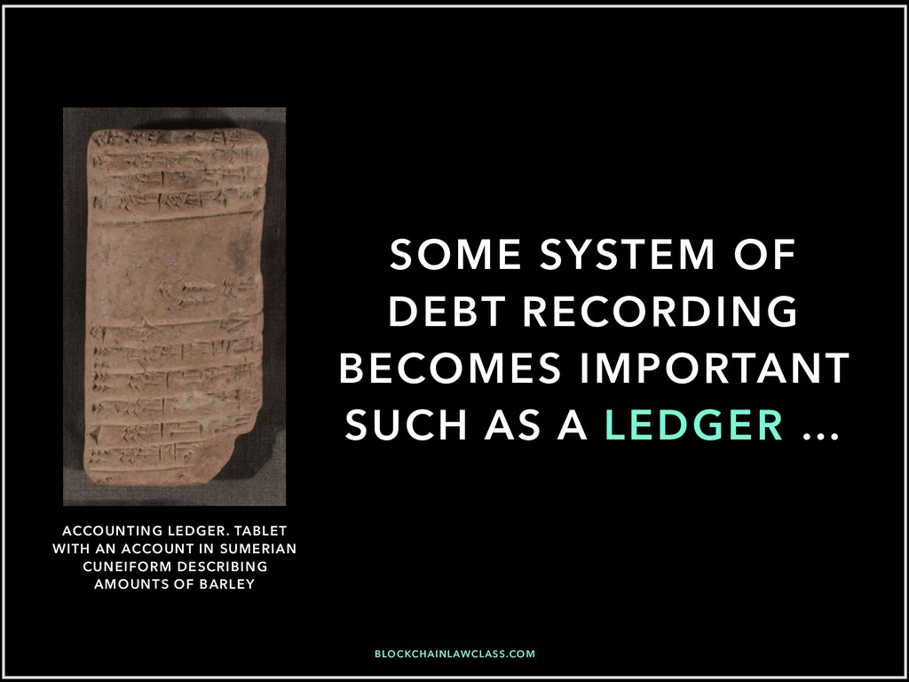 SOME SYSTEM OF DEBT RECORDING BECOMES IMPORTANT...