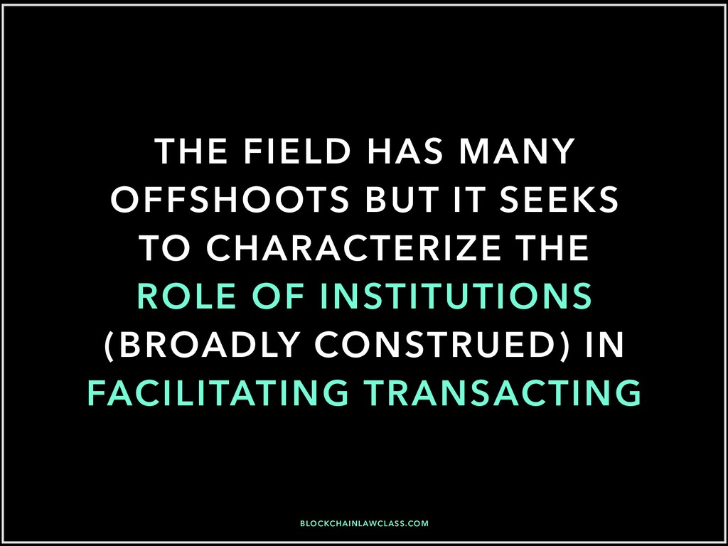 THE FIELD HAS MANY OFFSHOOTS BUT IT SEEKS TO CH...