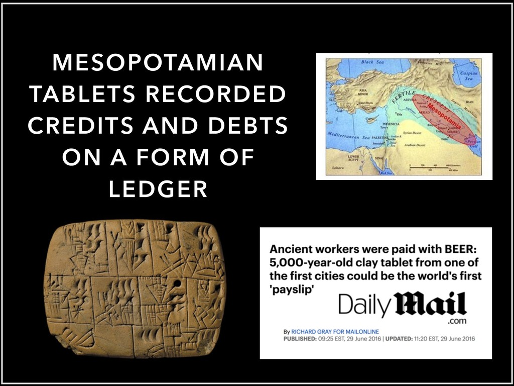 MESOPOTAMIAN TABLETS RECORDED CREDITS AND DEBTS...