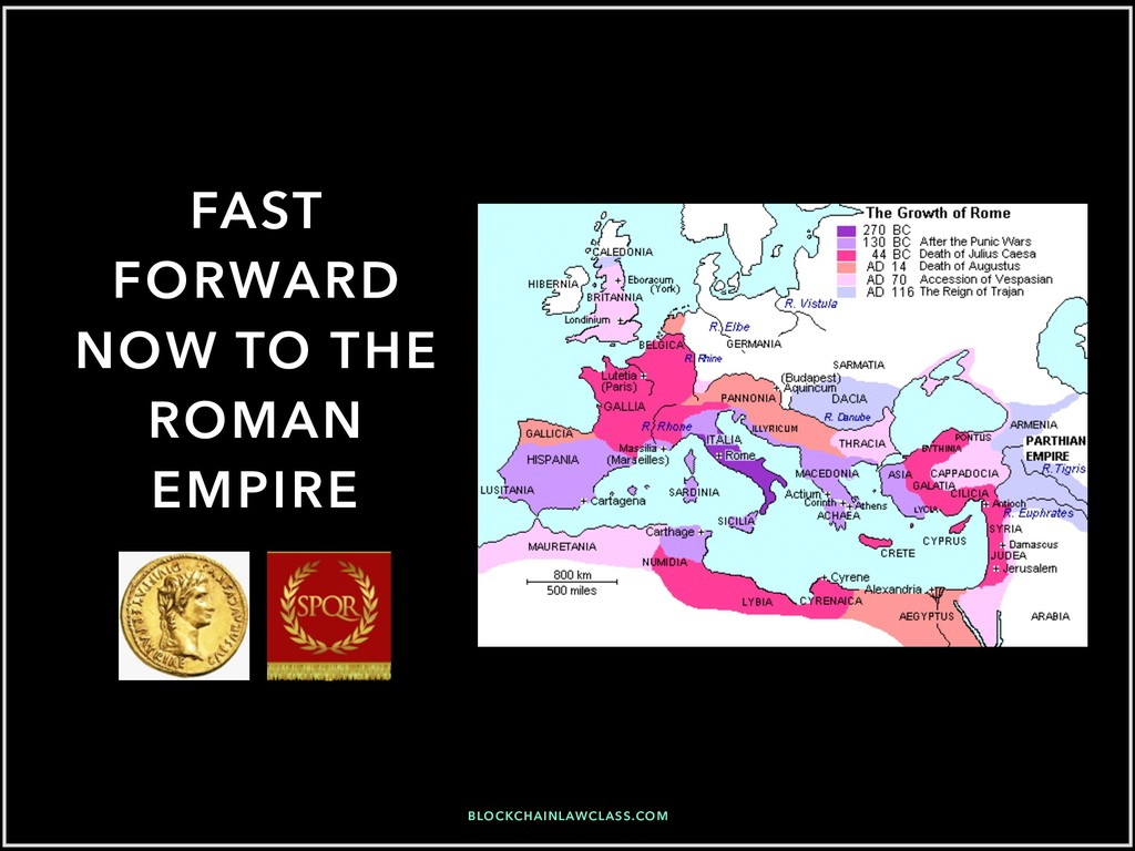 FAST FORWARD NOW TO THE ROMAN EMPIRE BLOCKCHAIN...