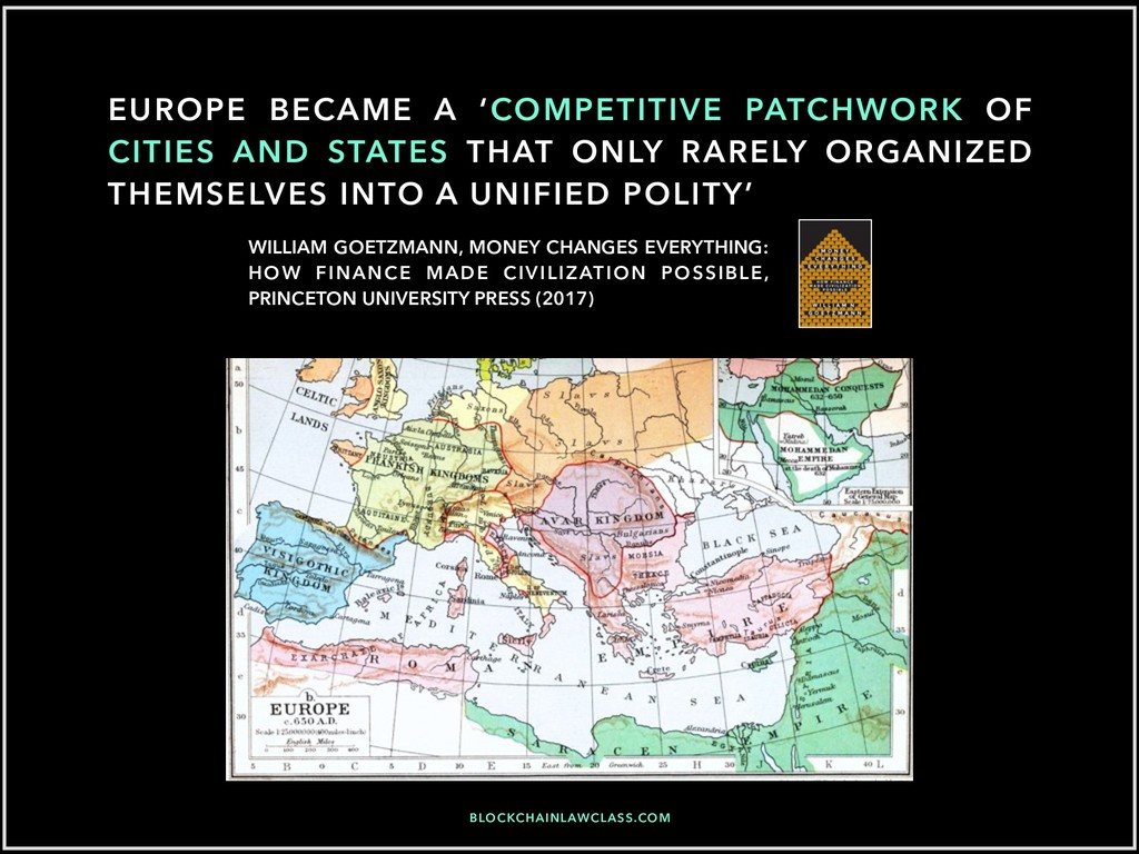EUROPE BECAME A 'COMPETITIVE PATCHWORK OF CITIE...